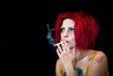 Smoking hazards red head