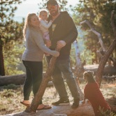 Wrightwood California family photoshoot with dog